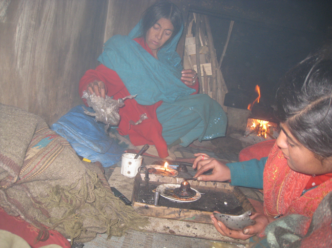 Mother Daughter - both addicted to opium in Baroghil Valley, Chitral, Pakistan