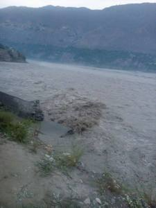 River cutting Chitral-Mastuj road at Denin ChitralToday